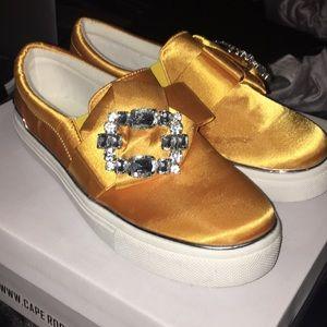 NWOB Yellow Slip On Sneakers